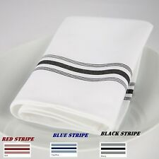 60 BISTRO STRIPE RESTAURANT DINNER CLOTH  NAPKINS CATERING WEDDING EVENT SUPPLY