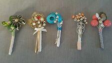 5 x vintage buttonholes boutonniere job lot