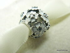 NEW! AUTHENTIC PANDORA CHARM WHITE PRIMROSE MEADOW #791488EN12 *SPECIAL*