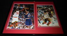 Hakeem Olajuwon Signed Framed 16x20 Photo Set Houston Rockets