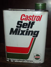 ANCIEN BIDON D'HUILE 2L . CASTROL SELF MIXING .ABE. CAN OIL MOTOR . DÉCO GARAGE