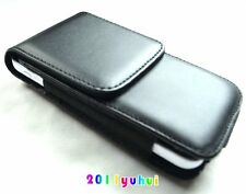 Black Leather VERTICAL Case Pouch for Apple iPhone 5G/5S/5C Holster Belt Clip