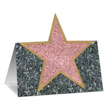 12 HOLLYWOOD Walk of Fame STAR PLACE CARDS*Award*VIP*Birthday*School Praise*