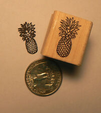 Pineapple miniature rubber stamps WM P24