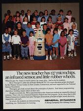 1989 THAROGEM I Robot General Dynamic Robotacts 137 Microchips Sensor VINTAGE AD