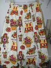 Vintage Bless this House Drapery Panel Curtain 22 X 36 Inches Cotton 14629