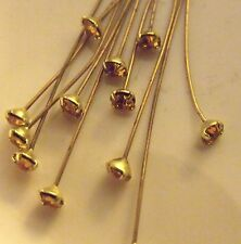 WONDERFUL TOPAZ SWAROVSKI VINTAGE RHINESTONE HEADPINS
