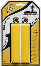 YELLOW ESI 32mm Chunky Silicone MTB Bike Grips Shock Absorbing 130mm MADE IN USA