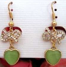 Women/Girls Fashion Elegant Crystal Rhinestone Earrings Bow/Hearts new