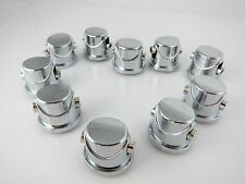 10 Double End Tom / Snare Drum Lugs without Mounting Screws / Chrome Finish