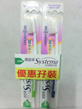 Lion Systema Super Soft M Regular Head TOOTH BRUSHES For 2 toothbrushes M-SIZE