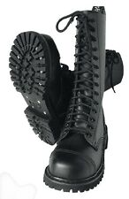 14 Loch Stiefel Springerstiefel Kampfstiefel Army Boots Rangers Leder BW 10 44