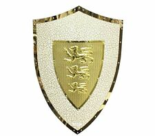 Medieval Knight LionHeart Metal Shield Armour with Lion Symbols