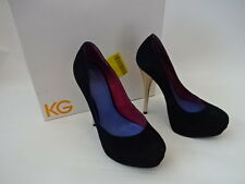 KG by Kurt Geiger Eleanor Blac Suede Court Shoes UK Size 6 (39) RRP £130