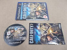 PS2 Playstation 2 Pal Game CALL OF DUTY 3 with Box Instructions