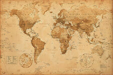 World Map Antique Style Maxi Poster 61x91.5cm - GN0430