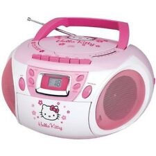 HELLO KITTY Stereo CD BOOMBOX CASSETTE Player/Recorder AM/FM RADIO