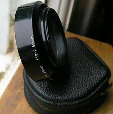 Asahi PENTAX lens hood for 50mm f1.4 m42  49mm screw in ( plastic) & case