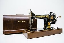 !!!  ANTIQUE  SINGER 28K  Hand Crank 1931 SEWING MACHINE FULLY SERVICED  !!!