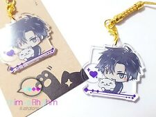 Crystal Clear Acrylic straps charm: Mystic Messenger Jumin Han App Game