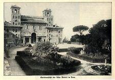 Villa Medici in Rom ( Italien ) Historische Aufnahme von 1912