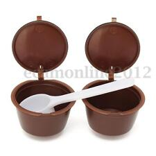 SET 2PZ capsule caffè Cremoso PER Nescafè Dolce Gusto Brewers con cucchiaio