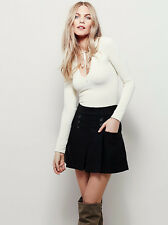 New Free People Black Happy Together Mini Skirt Size 10 $78