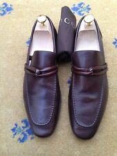 Gucci Mens Shoes Brown Leather Loafers UK 7 US 8 EU 41 Made in Italy