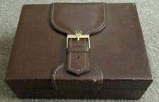 Authentic Rolex Leather & Wood Watch or Jewelry Box 71.00.06