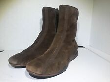 Cole Haan Nike Air Brown Suede Ankle Boots Side Zipper Womens Sz 10 B