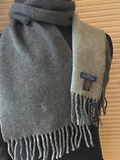 Polo Ralph Lauren men's outerwear wool knit scarf color: Gray 68 x 10 New