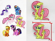 3 IN My Little Pony Fluttershy Iron on Patches Embroidered Badge Applique patch