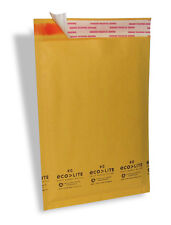 "500 #0 6.5X10 "" Ecolite "" X- Wide Kraft Bubble Mailers Padded Envelopes Bag"