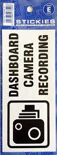 NEW DASHBOARD CAMARA RECORDING STICKER 150MM X 65MM CAR VAN COMMERCIAL TAXI