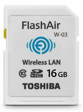 TOSHIBA SDHC FLASHAIR WIFI Class 10 16GB 16G 16 G GB SD HC WIRELESS MEMORY CARD