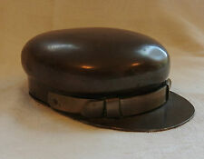 Military WWI Unusual Brass Trench Art Officers Hat Cap Snuff Trinket Box (3224)