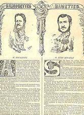 DEPUTES PAUL BOURGEOIS LA VERRIE LEON RENAULT MAISONS-ALFORT ARTICLE PRESSE 1881