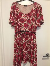 Plus Size 32 Rose Print Skater Dress From Yours Clothing