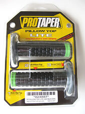 Pro Taper Pillow Top Lite Black / Green Twist Throttle Grips KX KLX KXF NEW