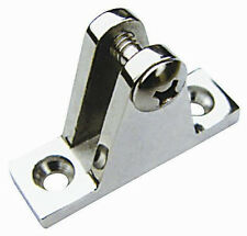 AISI 316 Stainless Steel Marine Boat Bimini Top Fitting Deck Hinge with Screw
