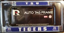 Tennessee State Tigers TSU LBL Chrome Metal License Plate Frame Cover University