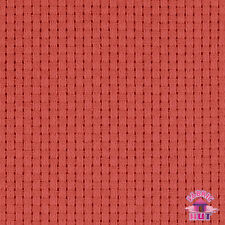 "140127062 - Monks Cloth 8 Count Red Cotton 60"" Fabric by the Yard 4x4 Weave"