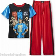 WWE John CENA Roman Reigns Batista Pajamas Boy's 14/16  NeW Shirt Pants Pjs Set