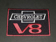MOTORSPORTS MOTOR RACING SEW/IRON ON PATCH:- CHEVROLET V8