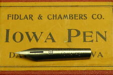 """Lots of 10 FIDLAR & CHAMBERS Vintage Dip Pen Nibs, Style """"B"""""""