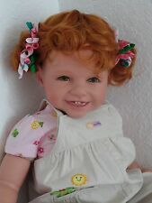"Reborn 22""Toddler Girl Doll ""Shelby and her lucky Ladybug"""