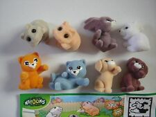 KINDER SURPRISE SET - NATOONS CUTE PETS BABYS COUPLES FELT 2013 FIGURES