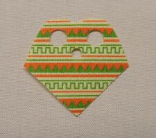 NEW Lego Minifig TAN Poncho Cloth with Green and Terra Cotta Pattern