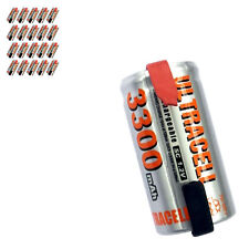 20 x Sub C 1.2V Volt 3300mAh NiMH Rechargeable Battery With Tabs Ultracell