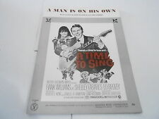 1968 vintage NOS sheet music - MAN IS ON HIS OWN - HANK WILLIAMS